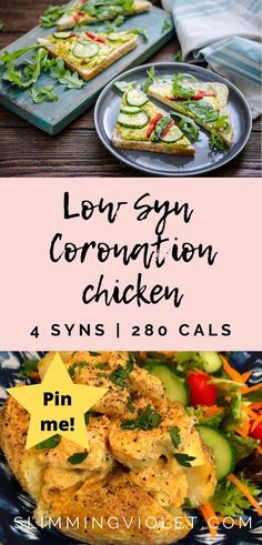 These low Syn coronation chicken recipe is great for lunch as a sandwich filling or potato topping. Try it today! Healthy Meals For Kids, Healthy Meal Prep, Healthy Dinner Recipes, Vegetarian Recipes, Healthy Eating, Slimming World Chicken Recipes, Chicken Lunch Recipes, Slimming Recipes, Coronation Chicken Recipe