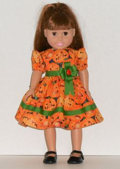 American Girl Doll Clothes Halloween Dress by AmericanDollClothes, $14.00