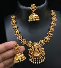 Pc Matt temple jewels for Rs 1600 with shipping 1)Send Direct message to place order 2)International Shipping is extra 3)All the…