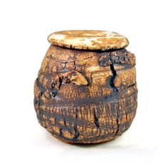 Ceramic Vase  Rough Bark Texture  Handmade by PatsPottery on Etsy