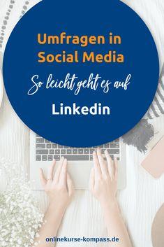 Jetzt können wir auch bei Linkedin Umfragen erstellen. Das geht auf dem Profil und auch in Linkedin-Gruppen. Umfragen lassen sich auf dem Desktop aber auch in der Linkedin-App erstellen. Mit kurzen Umfragen erfährst Du mehr über Deine Follower. #onlinekursekompass #linkedin Internet Marketing, Social Media Marketing, Entrepreneurship, Tricks, Online Business, Wordpress, Desktop, App, Tools