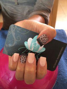 Nails art, acrylic nails, animal print nails