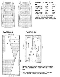 One of my favorite things about the A-Frame skirt is the many opportunities  for color blocking, print mixing and other ways of playing with fabric.  I've provided some ideas and additional cutting layouts below, including  some fabric suggestions from some awesome independent fabric retailers!  There are many variations on A-frame that call for the same yardage and  layout given in the pattern, but create visual interest by using both sides  of the fabric. The sample version of the pencil…