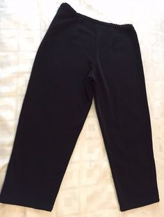 Chico's Design Women Career Casual Black Trousers Dress Pants Size 2 #ChicosDesign #CasualPants