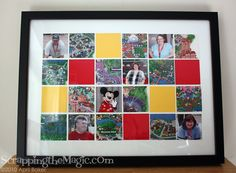 Handmade picture frames using disney world maps just use mod podge personalize disney stuff fun this is a cute idea to do solutioingenieria Choice Image