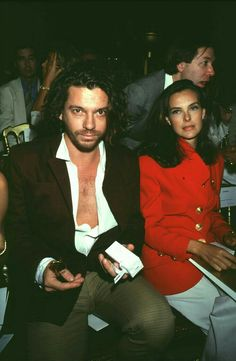 Hutch and Carole Bouquet (french actress),1992