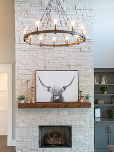 French Country Fireplace, Cream Stone, Stone Interior, Seattle Homes, Flat Stone, Poured Concrete, Home Fireplace, New Builds