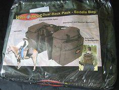 Versapack dual back pack - saddle bag horse equine Hamilton products NEW