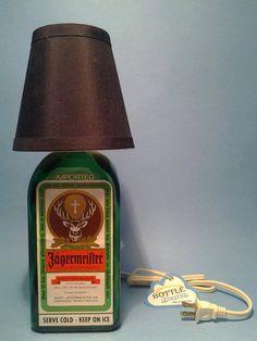 Jagermeister ® Desk Lamp | Table Lamp | Bar Lamp W/ Shade |- 75ML Bottle