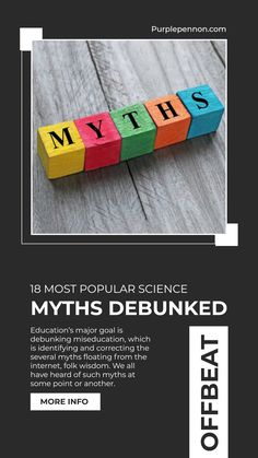 There are many myths but we have mentioned some of them that aim to clear up some commonly held misconceptions in the field of science Read Full Blog on website How To Grow Bananas, Education Major, States Of Matter, Cancer Cure, Most Popular, Survival Skills, Science, Website, Blog
