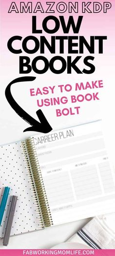 Ever thought about selling on Amazon KDP? Read on how Book Bolt helps you create low-content books quickly so you can publish and make money! A great side hustle to start from home!| Fab Working Mom Life