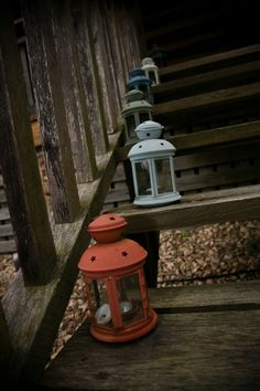 IKEA lanterns + spray paint for affordable decor you can save and reuse for outdoor entertaining!