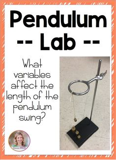 Pendulum lab- what affects the pendulum swing? Pendulum lab- what affects the pendulum swing? Physical Science Projects, Physics Projects, Science Lessons, Science Experiments, Science Labs, Science Curriculum, Science Education, Teaching Science, Science For Kids