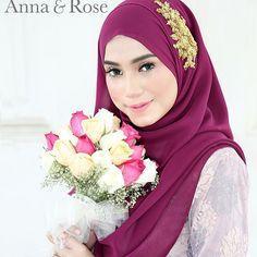 Coming soon, instant shawl in purple orchid with gold lace. Bakal menceriakan hari hari awak yang comel tu. Hikss! - Anna Goodnight #annaqueens! 😘  #wedding #malaywedding #bridesmaid #lovely #shawl #bride #enggagement #solemnization #sweet #hijabi #fashion #lace #event #life #hijabista #tunang #beadedshawl #beautiful #inspiration #inspired #model Anna Rose, Malay Wedding, Purple Orchids, Gold Lace, Beautiful Hijab, Pashmina Scarf, Hijab Fashion, Shawl, Magenta