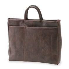 m+/レザーバッグ TENERA ブラウン 42000yen ビジネスでもカジュアルでも使いやすいトートバッグ