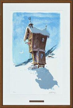 Kjell Aukrust Edvard Munch, Iphone, Bird, Architecture, Illustration, Outdoor Decor, Christmas, Arquitetura, Xmas