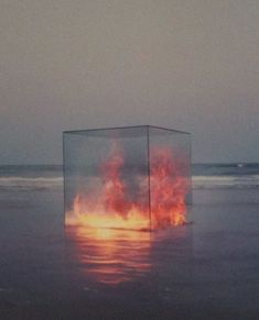 Fire in a box. Tanapol Kaewpring, 2010. out on the beach, great as night lighting and shore divider.