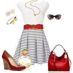 Nautical dress 3.24.12, created by mzcali4nia on Polyvore