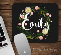 Hey, I found this really awesome Etsy listing at https://www.etsy.com/listing/255946231/monogram-mouse-pad-monogram-mouse-pad