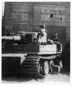 The 2./schwere Panzer-Abteilung 502 shortly after its consolidation with schwere Panzer-Abteilung 503. This photograph was taken outside of the maintenance facility at Mariupol. This Tiger still has its old turret numerals.