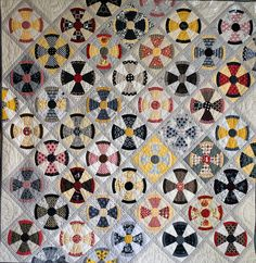 Steampunk Quilt by Thimbleanna. Pattern by Jen Kingwell.