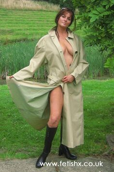 Well do you want me to remove it completely or not? The stunningly beautiful Hayley in her green mackintosh. #RaincoatsForWomenGreen