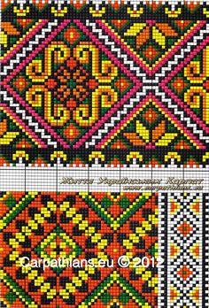 Cross stitching , Etamin and crafts: Traditional cross stitch Pattern Folk Embroidery, Cross Stitch Embroidery, Embroidery Patterns, Beaded Embroidery, Cross Stitch Borders, Cross Stitching, Cross Stitch Patterns, Bead Loom Patterns, Beading Patterns