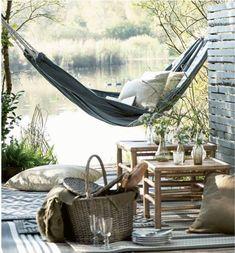 Shops, Garden Show, Outdoor Furniture, Outdoor Decor, Decoration, Garden Inspiration, Hammock, Dressing, Interiors