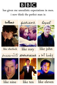 It used to be Disney that gave me unrealistic expectations of men. now it's the BBC and Doctor Who and Sherlock! Serie Doctor, Supernatural, My Sun And Stars, Look Here, Raining Men, Film Serie, Dr Who, Sherlock Bbc, My Guy