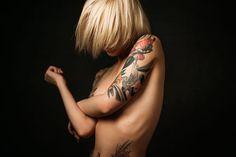 Sasha Brink Russian Tattoo, Off Camera Flash, Tattoo Models, Tattoos, Yandex, Studio, Fashion, Female Portrait, Portraits