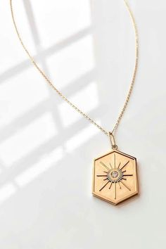 GRACE HARPER Gold Finish Orange Enamel Rose Pendant Necklace