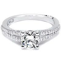 Love this!  .50ct Round Brilliant GIA G/SI1 Tacori Engagement Ring