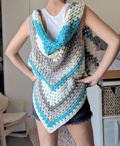 Caron Cake Triangle Shawl/Scarf - The Versatile Vest!