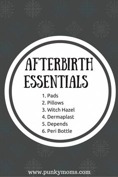 The Afterbirth Shopping List - The Absolute Essentials #pregnancy