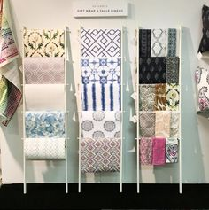 Guildery | Gift wrap & table linens showcased at the Atlanta Gift Show #atlmkt #americasmartatl #tabletop #giftwrap www.guildery.com