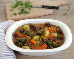 Carne guisada (receta en olla exprés y normal)