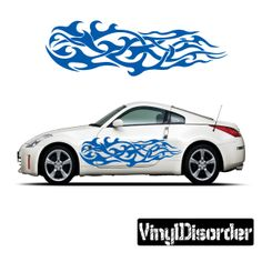 Tribal Flames Wall Decal - Vinyl Decal - Car Decal - DC 019