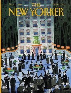 Hallowe'en covers by Charles Addams for The New Yorker. The New Yorker, New Yorker Covers, Halloween Images, Halloween Art, Holidays Halloween, Vintage Halloween, Halloween Designs, Halloween Poster, Halloween Witches