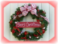 Merry Christmas Gingerbread Man Country Wreath Decoration