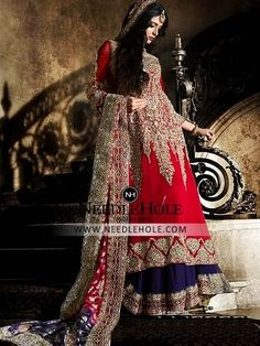 Designer Tabbasum Mughal Bridal Lehenga Collection. Buy This Enthralling Bridal Lehenga Dress Is Perfect For Your Special Occasions And Wedding Events With Free Shipping