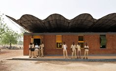 The architect Diébédo Francis Kéré used local materials and labor to construct a 3,980-square-foot school for a village in West Africa.