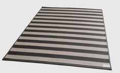 Kotimainen puuvillapaperinaru matto. Harmaa-valkoinen