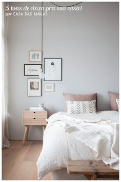 5 tons de cinza pra sua casa! Os tons preferidos e recomendados por nós para pintar a casa