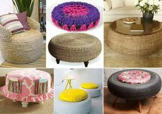How To Upcycle A Tire Into A Rope Ottoman   The WHOot