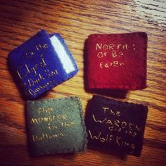 Some fantastic fan made tiny cloth versions of Andrew's #wingfeathersaga