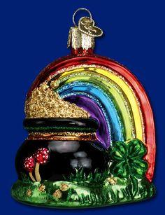 Pot of Gold Glass Ornament