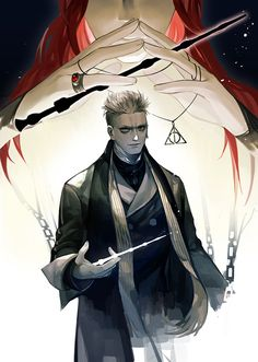 What a coincidence. Harry Potter Anime, Harry Potter Art, Harry Potter Universal, Gellert Grindelwald, Crimes Of Grindelwald, Harry Potter Illustrations, Dark Wizard, Albus Dumbledore, Fantastic Beasts And Where