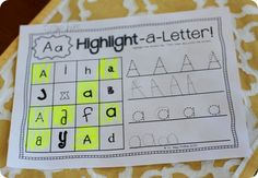 Highlight a letter FREEBIE