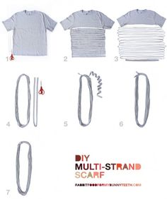 DIY Multi-Strand Scarf - RABBIT FOOD FOR MY BUNNY TEETH