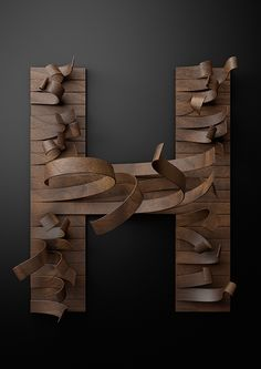 Wooden Type - Just type it by Txaber, via Behance